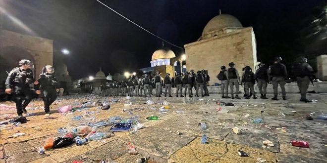 Al Aqsa Mosque after Israeli Forces attack