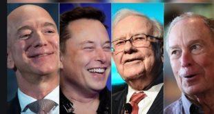 Jeff Bezos, Alon Musk, Michael Bloomberg, Rupert Murdokh