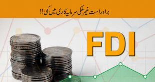 Decline in Foreign Direct Investment in Pakistan