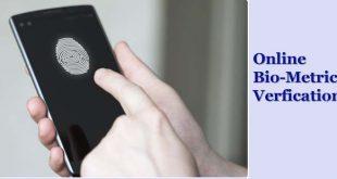 Online biometric verification in Pakistan