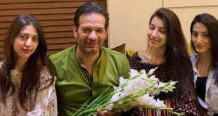Actor Saleem Sheikh with family